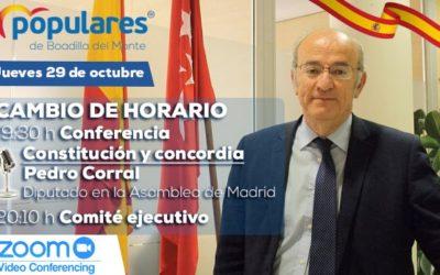 El diputado madrileño Pedro Corral mantendrá un encuentro con afiliados y simpatizantes del PP de Boadilla