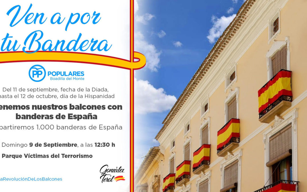El PP de Boadilla anima a los vecinos a llenar los balcones de banderas de España en defensa de la unidad nacional