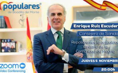 Encuentro con Enrique Ruiz Escudero, consejero de Sanidad